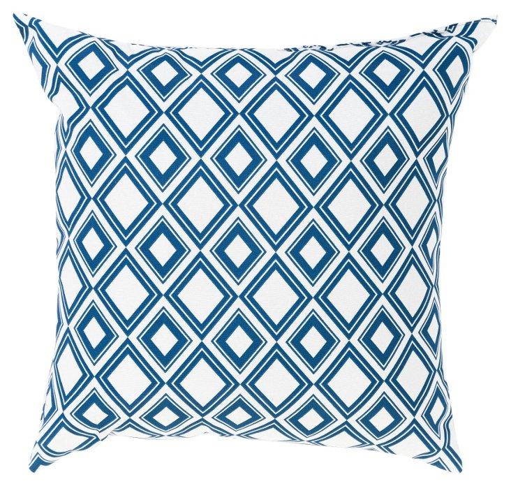Tiles 20x20 Outdoor Pillow, Aegean