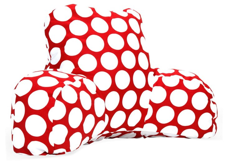 Polka Dot Reading Pillow, Red