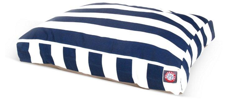 Stripe Rectangle Pet Bed, Navy/White