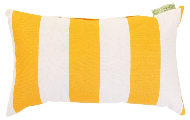Striped 12x20 Outdoor Pillow, Yellow