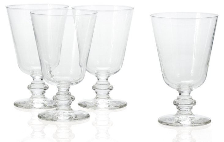 S/4 Wine Glasses, Clear