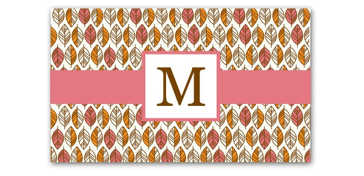 Monogrammed Cutting Board, Leaves