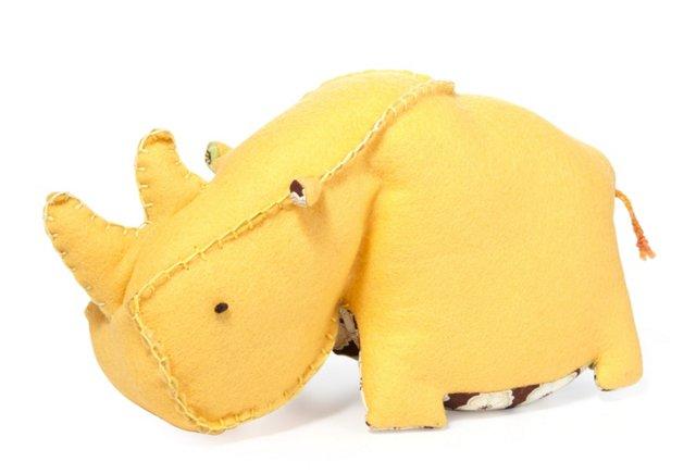 Premium Plush Rhino Marlo, Yellow
