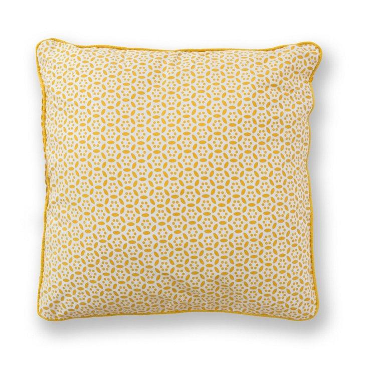 Circles 18x18 Pillow, Gold