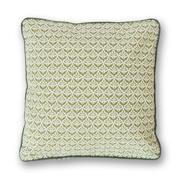 Plants 18x18 Pillow, Olive
