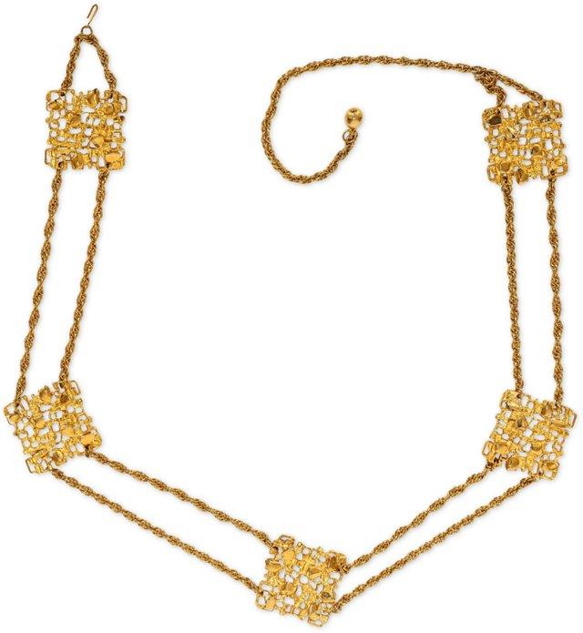 Vintage Gold KJL Gold-Plated Belt