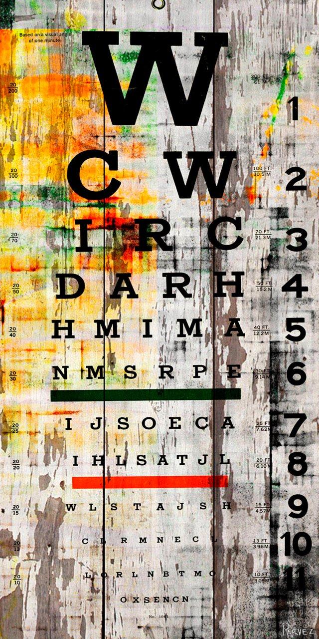 Eye Chart, Reclaimed Wood