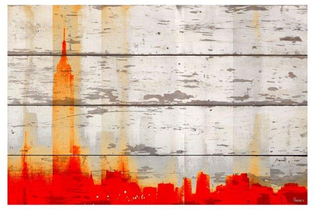 Red New York, Reclaimed Barn Wood