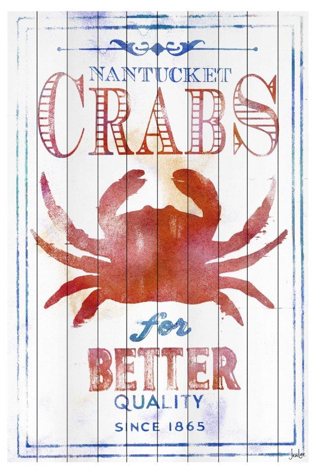 """Nantucket Crabs 24"""" x 32"""""""