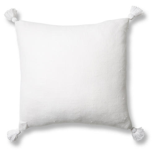 Montauk 20x20 Pillow, White Linen