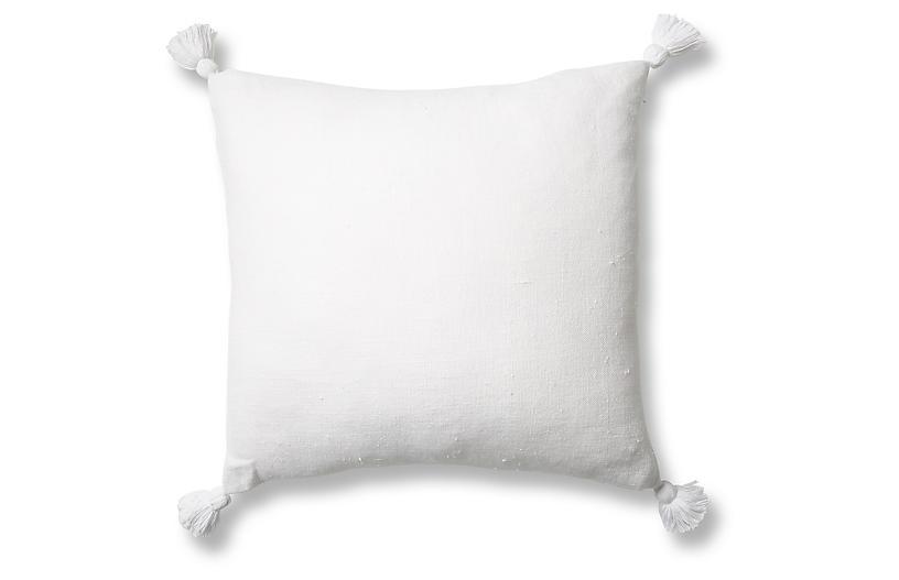 Montauk 20x20 Pillow, White Linen