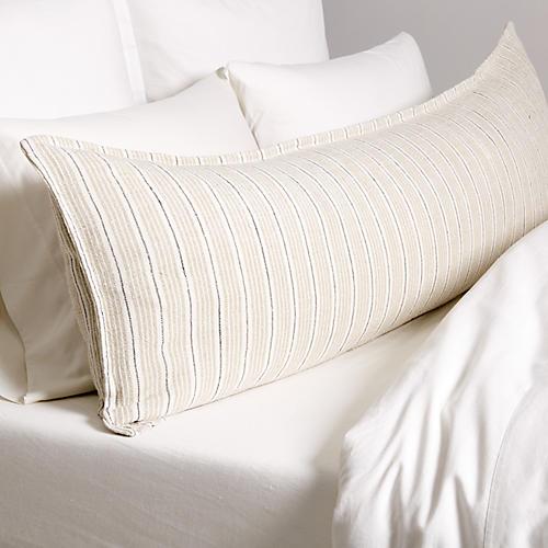 Newport 18x60 Body Pillow, Natural/Midnight