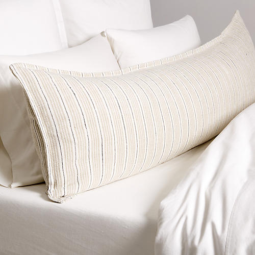 Newport 18x60 Body Pillow, Natural/Midnight
