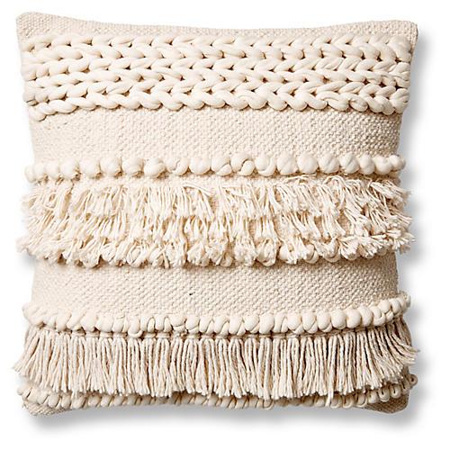 Iman 20x20 Pillow, Ivory