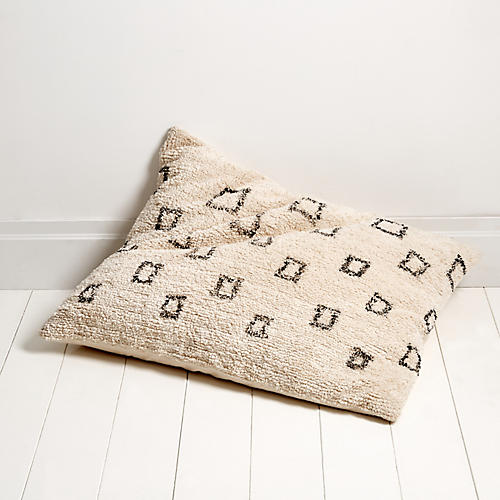 Bowie 28x36 Pillow, Ivory/Gray