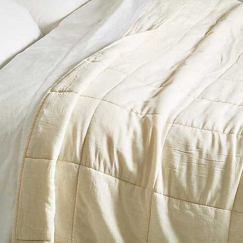 Antwerp Coverlet, Cream
