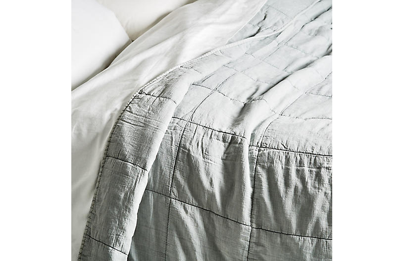 Antwerp Coverlet, Sky Blue