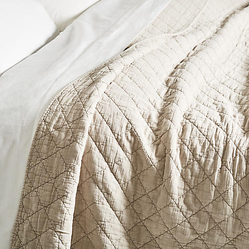 Huntington Coverlet, Taupe