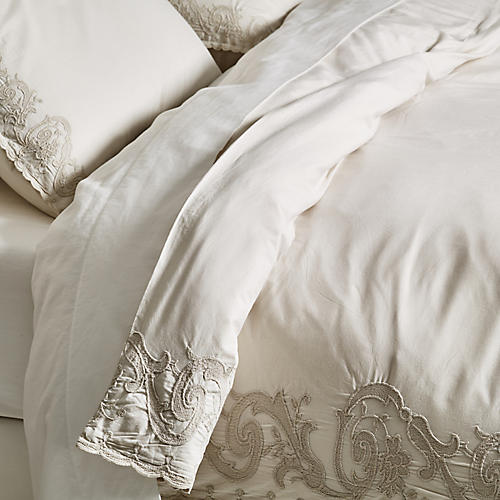 Grace Duvet Set, Powder Blue
