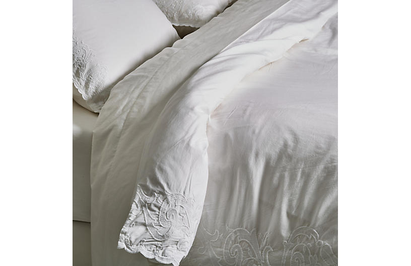 Grace Duvet Set, White