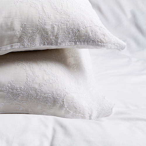 S/2 Grace Pillowcases, White