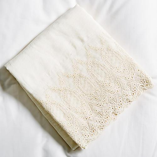 Annabelle Flat Sheet, Cream