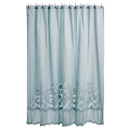 Caprice Shower Curtain, Aqua