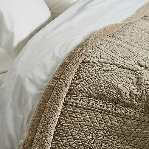 Marseille Coverlet, Taupe