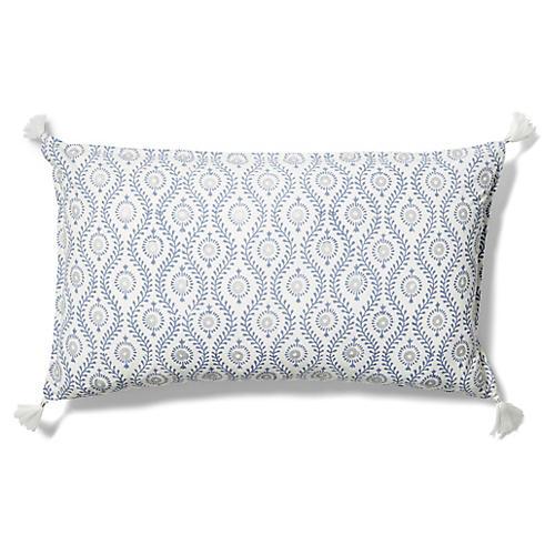 Dali 14x24 Lumbar Pillow, Indigo