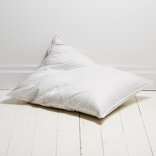 Dot 28x36 Pillow, Silver