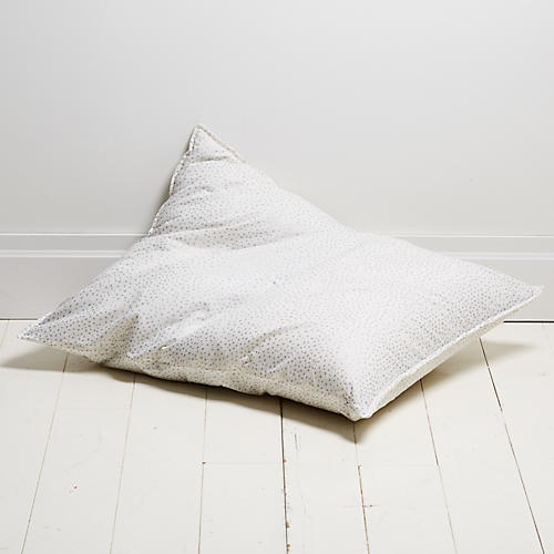 Dot 28x36 Pillow, Silver