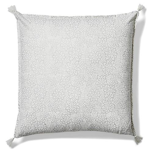 Keya 20x20 Pillow, Silver