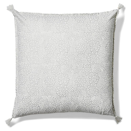 Keya 20x20 Pillow, Silver