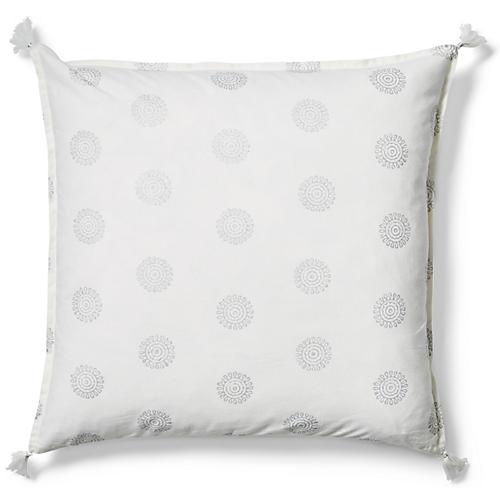 Ravi 20x20 Pillow, Silver