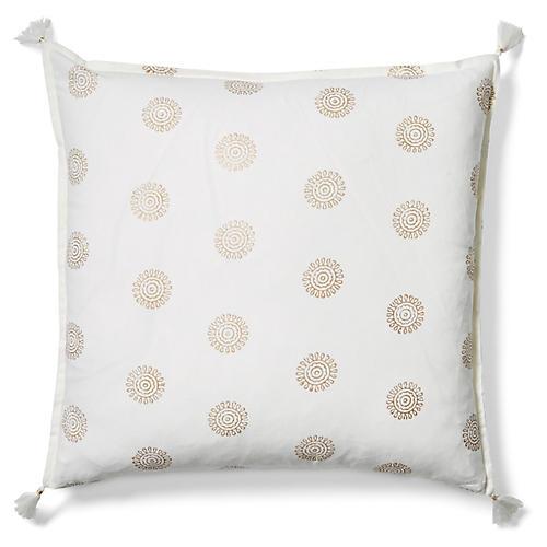 Ravi 20x20 Pillow, Gold