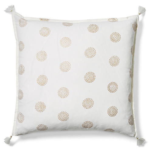Ravi 20x20 Pillow, Gold