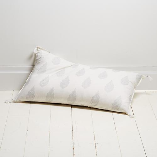 Siya 20x36 Lumbar Pillow, Silver