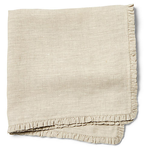 S/4 Charlie Dinner Napkins, Natural