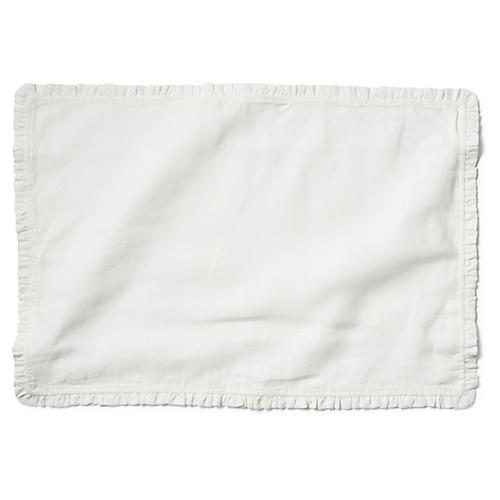 S/4 Charlie Place Mats, White