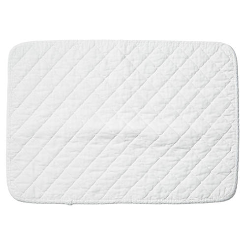 S/4 Hampton Place Mats, Pure White