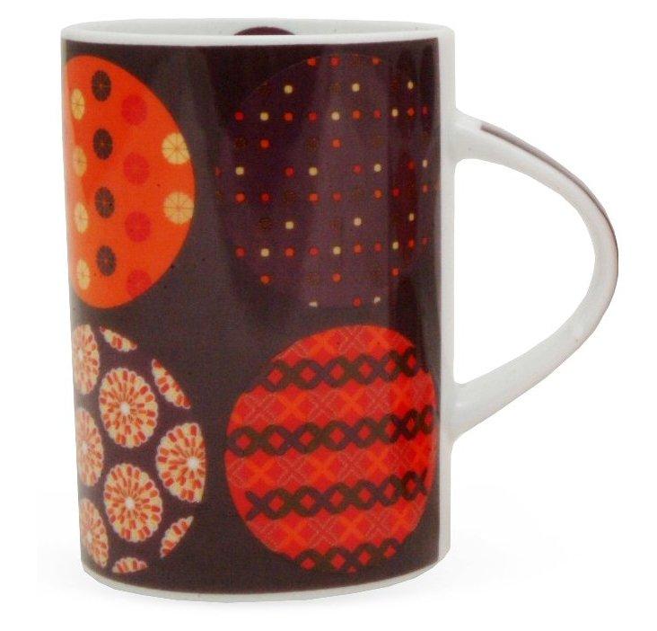 S/4 Celine Mugs, Brown/Multi