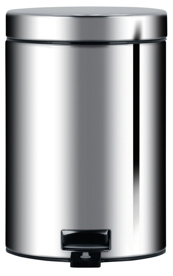 3L Pedal Bin, Brilliant Steel