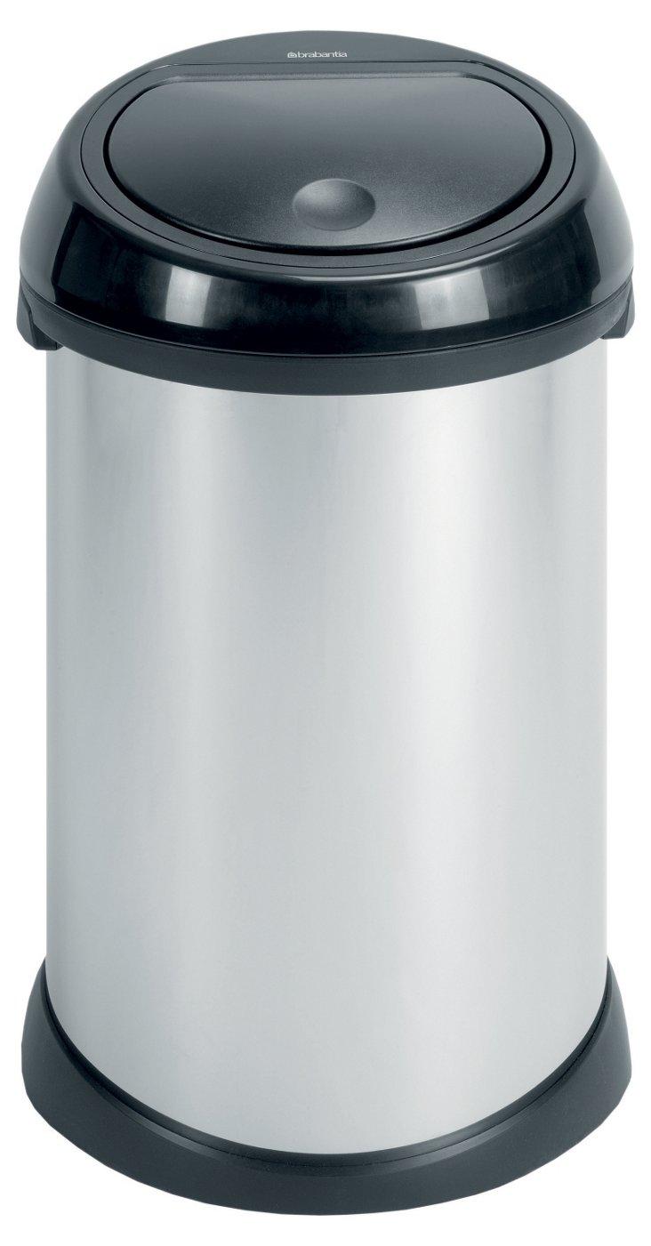 50L Touch Bin, Brilliant Steel