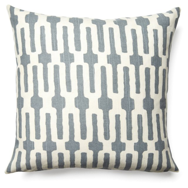 Links 16x16 Cotton Pillow, Gray