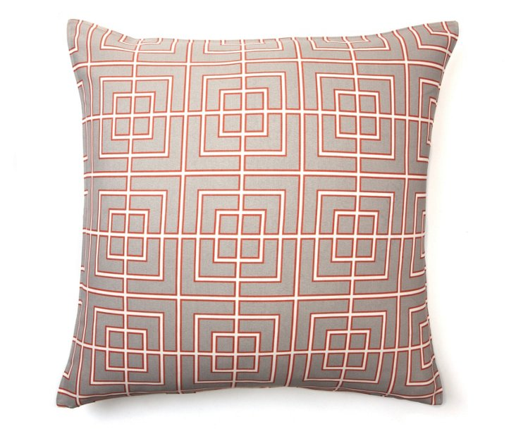 Architect 20x20 Pillow, Coral
