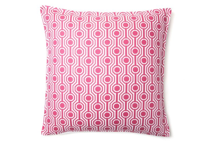 Honeycomb 16x16 Pillow, Pink