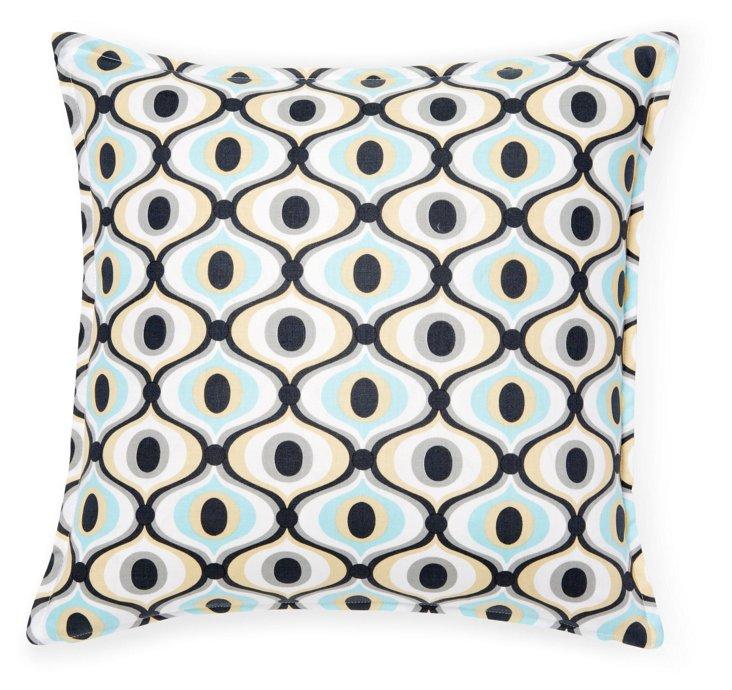 Moroccan Mod 16x16 Cotton Pillow, Multi