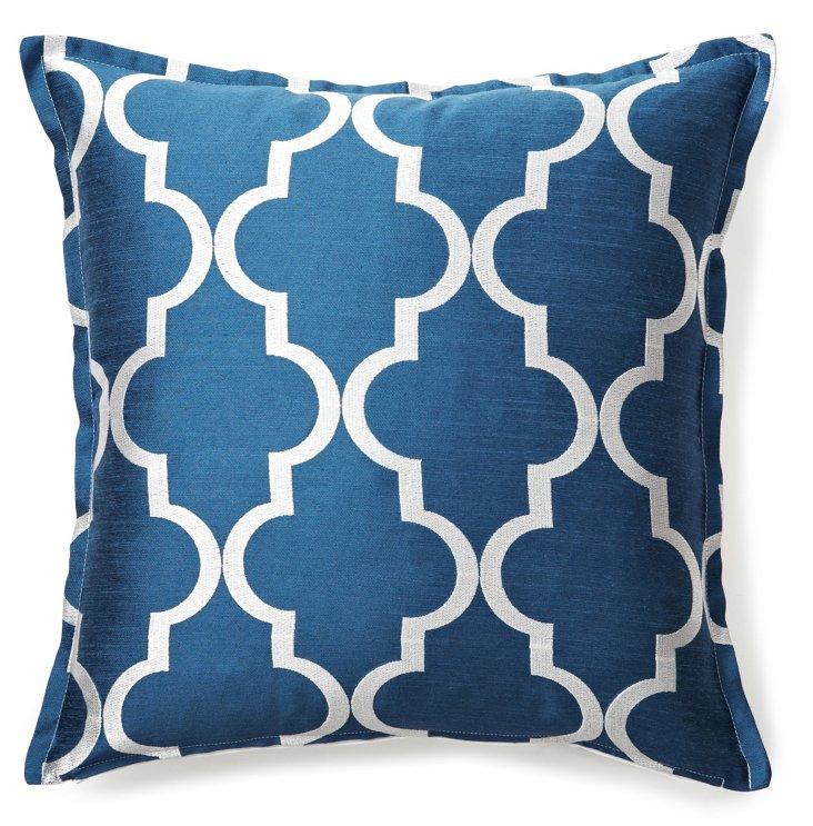 Pergola 16x16 Pillow, Blue