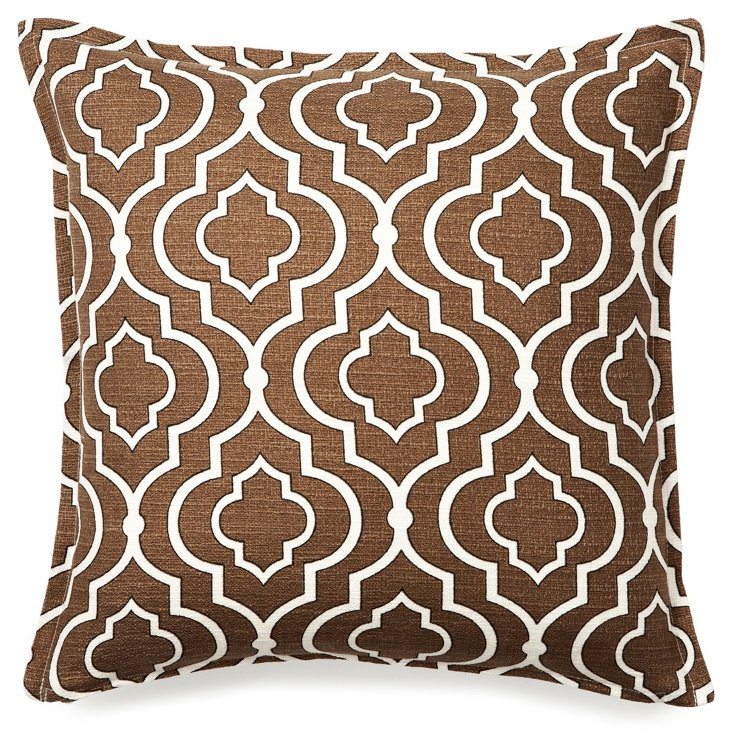 Imperial 16x16 Pillow, Brown