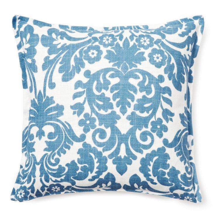 Damask 16x16 Pillow, Blue